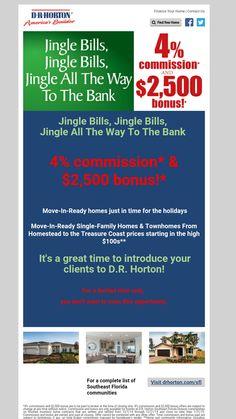 4% commission +$2,500 bonus for agents! #DRhorton