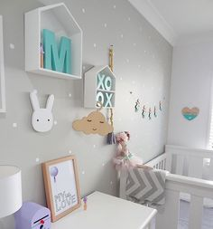 Find images and videos about baby room on We Heart It - the app to get lost in what you love. Baby Bedroom, Baby Boy Rooms, Baby Room Decor, Nursery Room, Girls Bedroom, Nursery Decor, Nursery Inspiration, Wall Colors, Girl Room