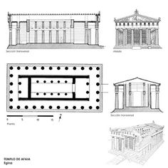 Plan of the Temple of Hera 1, Mid. 6th Century BCE