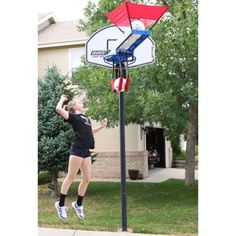 SpikeMate Volleyball Training System // The perfect at home training device whether you are with others or by yourself! Lightweight and easy to assemble and disassemble