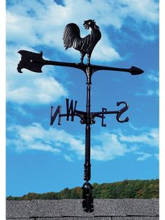 30-inch Rooster Accent Weathervane One of the most recognizable weathervane designs, the rooster accent weathervane makes a fine addition to any rooftop. A rooster sits atop an arrow with his head coc