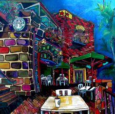 Downtown Starbucks San Antonio Art Artist Patti Schermerhorn
