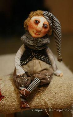 OOAK art doll / Коллекционные куклы ручной работы. Ярмарка Мастеров - ручная работа. Купить Ниссе. Handmade. Комбинированный, интерьерная игрушка, кожа натуральная