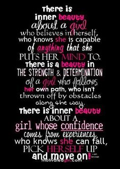 For a girl who knows who she is...