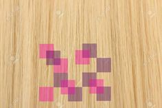 Pixelated hair pattern by Jen Miller