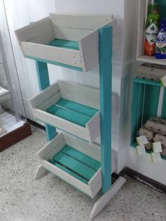 Pallet Vegetable Storage Rack | Pallet Furniture DIY