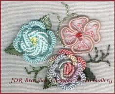 Free Tatting Patterns Beginners | Brazilian Embroidery Sampler Block 5 - a great way to learn Brazilian ...