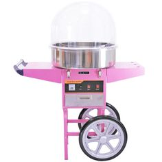 Ideal for parties, this candy floss machine kit is perfect for a start-up business!  KuKoo - Candy Floss Machine, Dome & Cart.