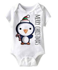 Take a look at this White 'Merry Christmas' Penguin Bodysuit - Infant on zulily today!