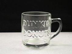 DUNKIN DONUTS  Glass Mug Cup