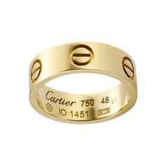 Yes pleaseeeeeee!!! Cartier Love Ring (yellow gold). [$1,553 USD]