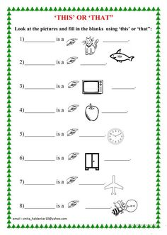 'THIS' OR 'THAT' - English ESL Worksheets for distance learning and physical classrooms English Activities For Kids, English Grammar For Kids, English Stories For Kids, English Worksheets For Kindergarten, English Phonics, Learning English For Kids, Teaching English Grammar, English Worksheets For Kids, English Lessons For Kids