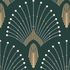 Art Deco Style Furniture and Home Inspirations Motif Art Deco, Art Deco Design, Art Deco Fabric, Teen Star, Wallpaper Art Deco, Peacock Wallpaper, Decoration Cactus, Art Deco Bedroom, Art Deco Home
