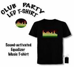 LED T-Shirt, Equalizer, Party, Club, Disco Hingucker: Amazon.de: Elektronik
