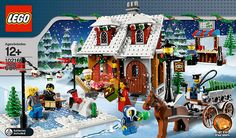 Return to yesteryear with this festive holiday scene! The Winter Village Bakery