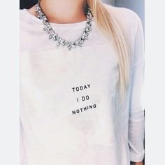 Friday Vibes Don't you just feel like Friday should be made part of the weekend? I'm sure there's a study out there somewhere proving that I'm 200% less productive on the last day of the work week LOL My Crystal Halo necklace is perfect with a simple graphic tee- try this look yourself today! Necklace available in my Kloset  Jewelry Necklaces
