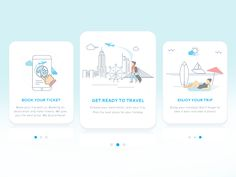 App Onboarding - Travel & Trip Booking by Intuz #Design Popular #Dribbble #shots