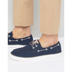 Original Penguin Canvas Boat Shoes (2.265 RUB) ❤ liked on Polyvore featuring men's fashion, men's shoes, men's loafers, blue, mens blue canvas shoes, mens deck shoes, mens canvas boat shoes, sperry top sider mens shoes and mens lace up shoes