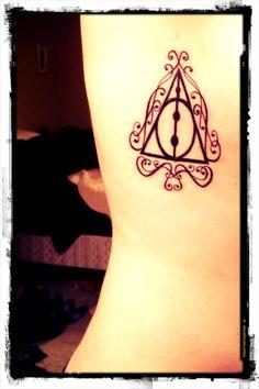 Very pretty Deathly Hallows tattoo