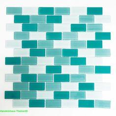 Crystal Brick mix hellgrün grün 2,5 x 5,0 x 0,4 cm