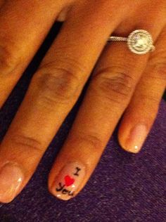 My ring and my wedding nails