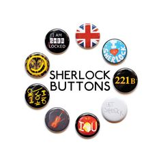 A set of nine 1 buttons inspired by our favorite super sleuth TV show. Available as pinbacks or magnets