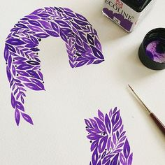 WEBSTA @ goodtype - Beautiful hand painted leafy letters by @unakritzolina #StrengthInLetters #Goodtype