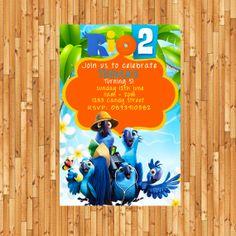 RIO 2 MOVIE Invitation- Rio two Birthday Invite- Rio movie Printable Custom Personalized . Bumbles Design