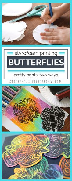 These cheerful butterfly prints start with a simple Styrofoam plate & a free template.Two options mean you already have what you need to get started today! Marker prints using only washable markers or roll your printing plate with black ink. Either method allows you to make as many butterfly prints as you want!