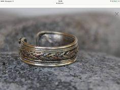 bague  homme anneau tibétain  argent vintage  ajustable