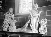 Tombeau de René et Marie du Bellay, église Notre-Dame de Gizeux - 11) Cette église abrite de splendides tombeaux, véritables chef-d'oeuvres du XVII°s que l'on attribue au sculpteur tourangeau Simon Nicolas Guillain dit Nicolas de Cambrai, directeur de l'académie royale de sculpture de Paris.