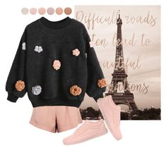 """""""paris"""" by nonanana ❤ liked on Polyvore featuring Deborah Lippmann, Finders Keepers and Vans"""