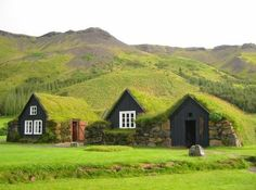 "Can you say, ""camouflaged""? Turf homes in Iceland"