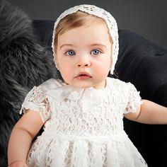 Lola Christening Dress & Bonnet or Headband