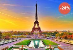 Foglalja le 4 nap/3 éjszaka szállás 2 fő részére önellátással új apartmanokban, reggelivel hotel** vagy hotel***, retúr repülőjegy Budapest - Párizs útvonalra illetékkel, kézipoggyásszal, szeptembertől októberrig több időpontban - Párizs, Franciaország csomagot 24% kedvezmennyel
