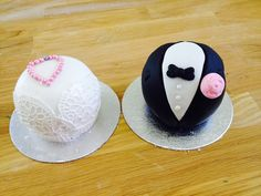 Temari bride & groom cakes by Geraldine Masson - a highly creative and talented baker.