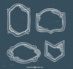 Line art vector frames