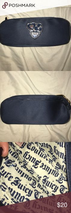 Juicy Couture Cosmetics Case Navy Blue Juicy Couture Cosmetic Case slightly used Juicy Couture Bags Cosmetic Bags & Cases