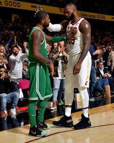 Every freakin time I see this picture, I want to cry . #KyrieIrving #LeBronJames #Celtics vs #Cavs Opening Night.