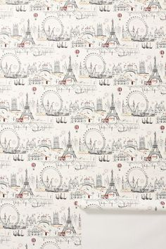 """C'est Magnifique Wallpaper - Anthropologie.com  """"This wallpaper has me dreaming of Paris.  This will go perfect with my Enchanted Forest bed and lovely duvet cover""""  #Anthropologie  #PinToWin"""