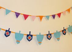 Of all the Chanukah items I've made from felt, I have to say, this bunting is one of my favorites. I just love bunting anytime, and I'm not alone as they have caught on like wild fire amongst the crafters. Hanukkah For Kids, Hanukkah Crafts, Jewish Crafts, Hanukkah Decorations, Hannukah, Happy Hanukkah, Fun Crafts To Do, Felt Crafts, Crafts For Kids
