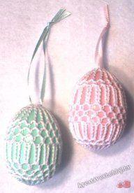 Art Deco Crochet Eggs Patterns - Crochet That! Thread Crochet, Knit Or Crochet, Crochet Gifts, Free Crochet, Egg Crafts, Yarn Crafts, Easter Crafts, Easter Egg Pattern, Easter Crochet Patterns