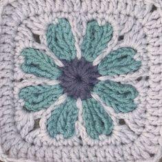 Flower crochet granny square