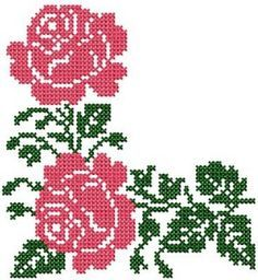 Cross Stitch Borders Cross Stitch 1 - Set 2 - - Flowers - Designs - by Meh - Very Few Jump Stitches to None at All Cross Stitch Sea, Cross Stitch Borders, Cross Stitch Flowers, Cross Stitch Designs, Cross Stitching, Cross Stitch Embroidery, Cross Stitch Patterns, Hand Embroidery Flowers, Embroidery Patterns