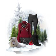Winter Fashion Leather Look Legging by sgolis on Polyvore featuring Rosetta Getty, MICHAEL Michael Kors, leatherlook, fashionlook, winterfashion, winterstyle and zazzle