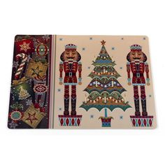 """Carnation Home """"Nut Cracker"""" Holiday Place Mat"""