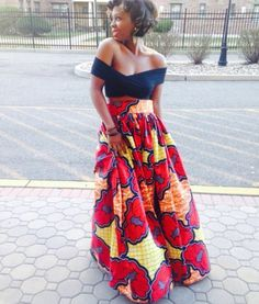 Ruby Red Maxi Skirt (zuvaa.com : global marketplace for african design)