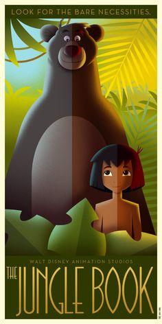 The Jungle Book Art Deco poster by DavidGFerrero.deviantart.com on @DeviantArt
