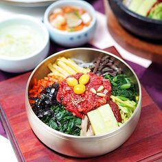 Raw beef tartar bibimbap in Jeonju, Korea!