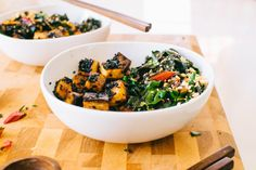 Crispy Black Sesame Tofu Bowls | Kale & Caramel